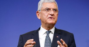 Turkish Minister for EU Affairs and Chief Negotiator Volkan Bozkir in Brussels