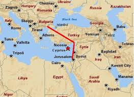 images Israel Turkey Pipe MAP    αρχείο λήψης
