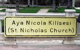 images St Nicholas in English   demre-church-sign-05