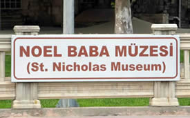 images St Nicholas in Turkish   demre-museum-sign