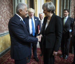 Binali Yildirim - Theresa May meeting in London