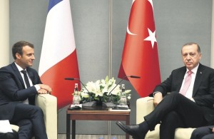 images Macron Erdogan NN 645x420-joint-defense-initiatives-at-center-of-erdogan-macron-meeting-in-paris-1515090444285