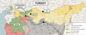 images Turkey Syria Afrin Map αρχείο λήψης